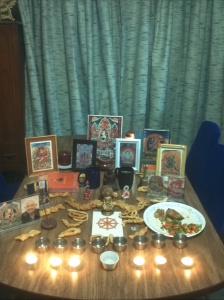 My Losar altar three years ago.